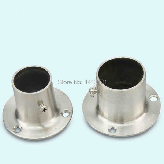 Free Shipping Flange Socket Thick Stainless Steel Flange Curtain Cloth Rod  Closet Seat Tube Bracket Household