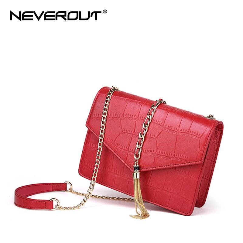 NeverOut Genuine Leather Bucket Bag Brand Name Women Shoulder Sac Lady  Messenger Bags Solid Sheepskin Crossbody ... e2a39d5521
