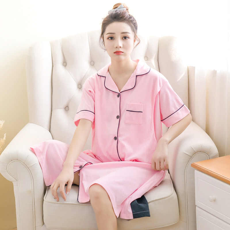 0dc72ce6f6 ... Summer Nuring Maternity Sleepwear Loose Breastfeeding Nightgown for Pregnant  Women Pregnancy Nursing Night Dress Nightwear ...