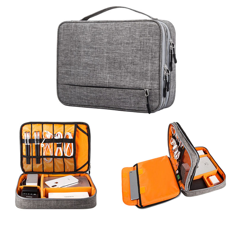 Multi-function Travel Digital Storage Bag USB Data Cable Gadget Charger Line Storage Bags Portable Travel Accessories Set