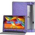 Защитная Печать Цветок Кожаный Чехол Для Lenovo Yoga Tab3 Tab 3 Plus YT-X703F 10.1 дюймов Tablet Printing Pattern Стойка Крышки Случая + Подарок