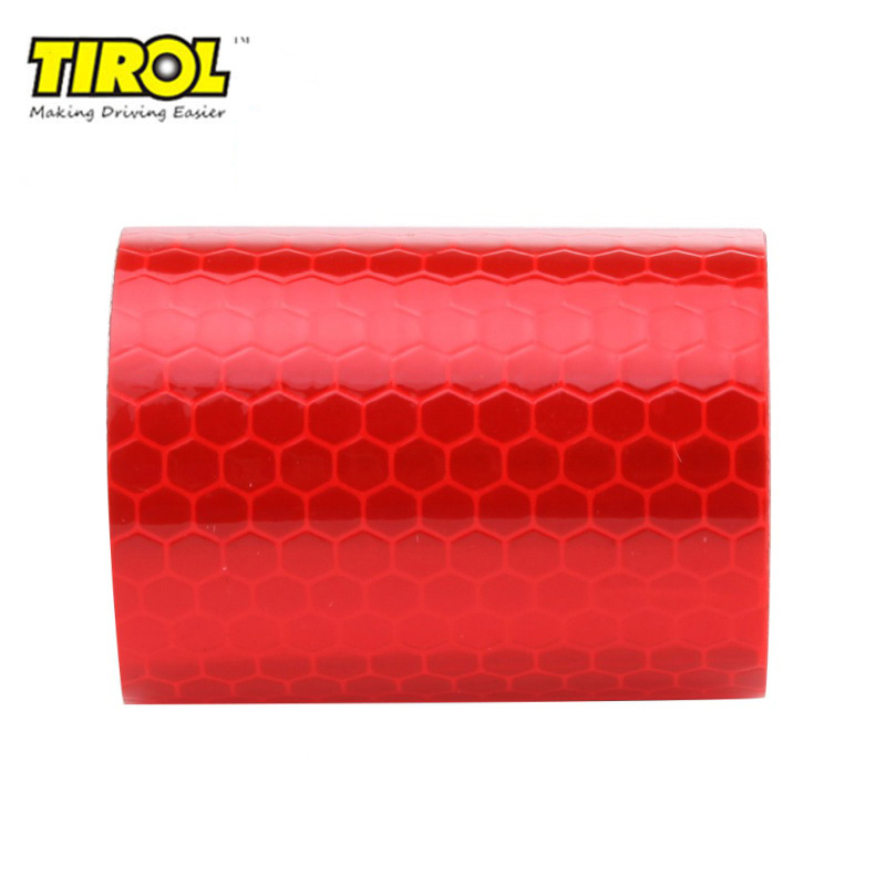 TIROL 5cmx3m Safety Mark Tape Stickers Car Styling Self Adhesive Warning Tape Automobiles Motorcycle Reflective Film