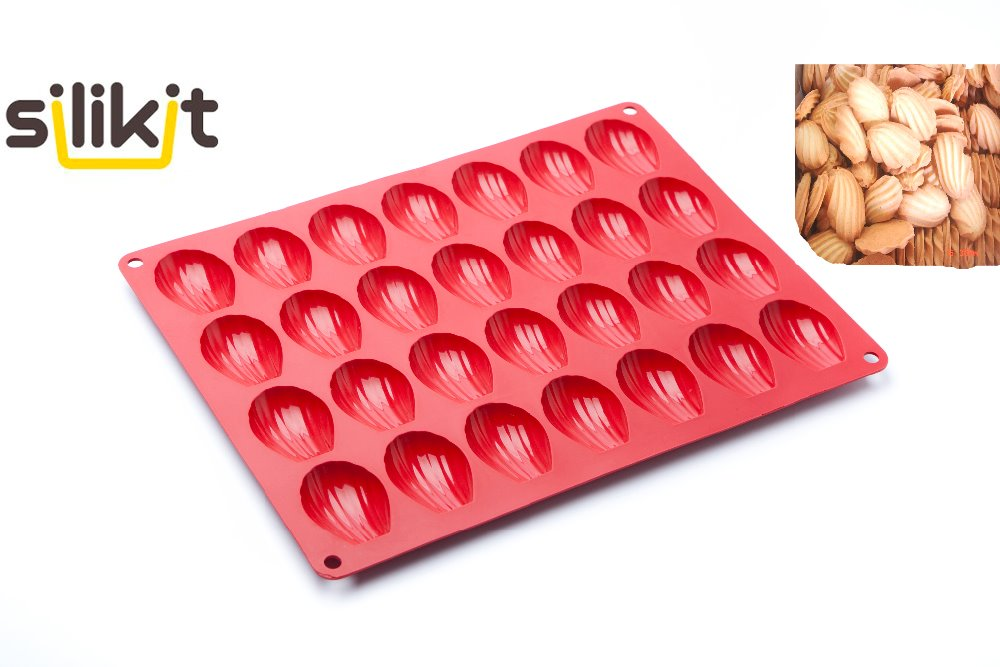 Freies verschiffen 100% silikon 28 standard mini-madeleines kuchenform kekse form shell form silikon gummi formen