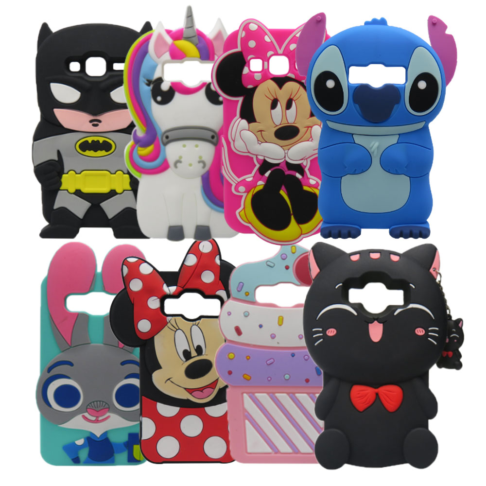 For Samsung Galaxy Core Prime Case 3D Cartoon characters Silicone Cover Case For Galaxy Core Prime Prevail LTE G360 G3608 G3606 ...