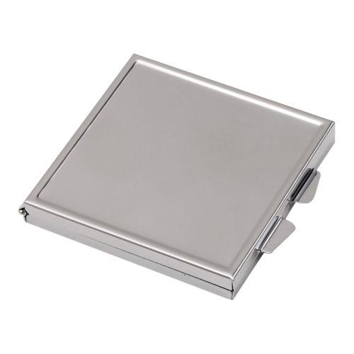 Branco Espelho De Metal Compacto Cosméticos Praça