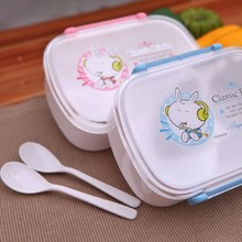 Cute cartoon rabbit box microwave bento food container 18.5cm*13cm*6.7cm free shipping