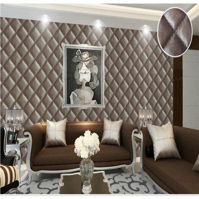 Moderne Tapete Kunstleder Muster Weichen Paket Schlafzimmer Wohnzimmer Sofa  Film TV Tapete Hintergrund Wandpapierrolle