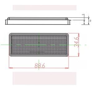 Image 2 - 6 piezas AOHEWE reflector rectangular rojo autoadhesivo E C E aprobación reflectante tira para camión remolque camión RV caravana de bicicleta