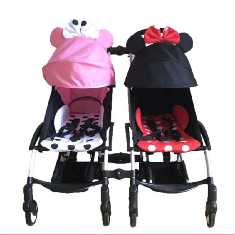 3 pièces coupleur Bush insérer dans les poussettes pour babyzen yoyo bébé yoya poussette connecteur adaptateur faire YOYO en landau jumeaux
