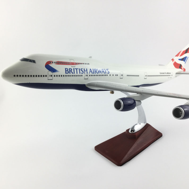 B747 BRITISH AIRWAYS Boeing747 45-47CM 1:150 Alloy Aircraft Model Collection Model Toys Gifts Free express EMS/DHL/Delivery