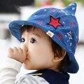 Новейшая Мода Hot Прекрасный Звезда Magic Hat Лето Мужская Джинсовые детские Sun младенца Hat Cap Snapback gorro Для Детей Крышки Подарок C013