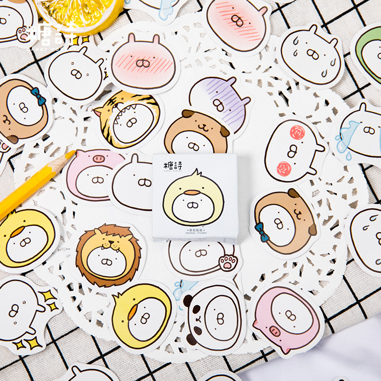Lovely Cartoon Rabbit Decorative Bullet Journal Stickers Set Adhesive Stickers DIY Decoration Diary Stationery Stickers