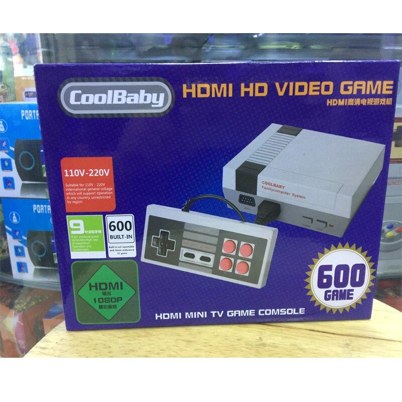 2018 Новый мини игровой консоли ретро мини ТВ Ручной игровой консоли для NES игры встроенный 600 различных игр с HDMI выход PAL & N