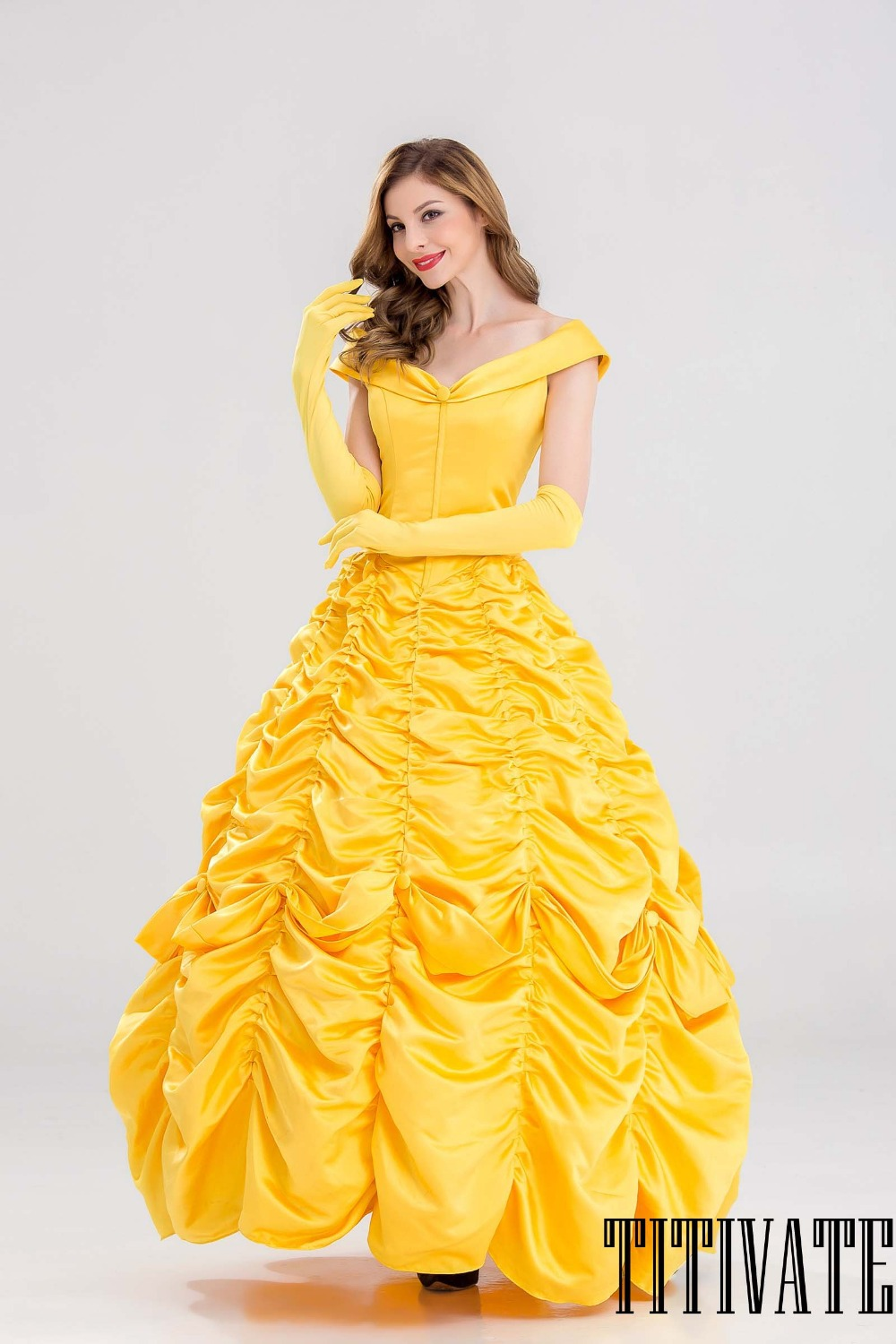 titivate belle princess halloween costume women cosplay beauty and