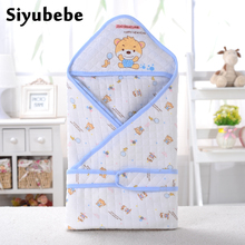 Summer Baby Sleeping Bag Newborn Bebe Blanket Cotton Soft Envelop Swaddle Blankets Infant Bebe Hoodle Kids Sleepsack