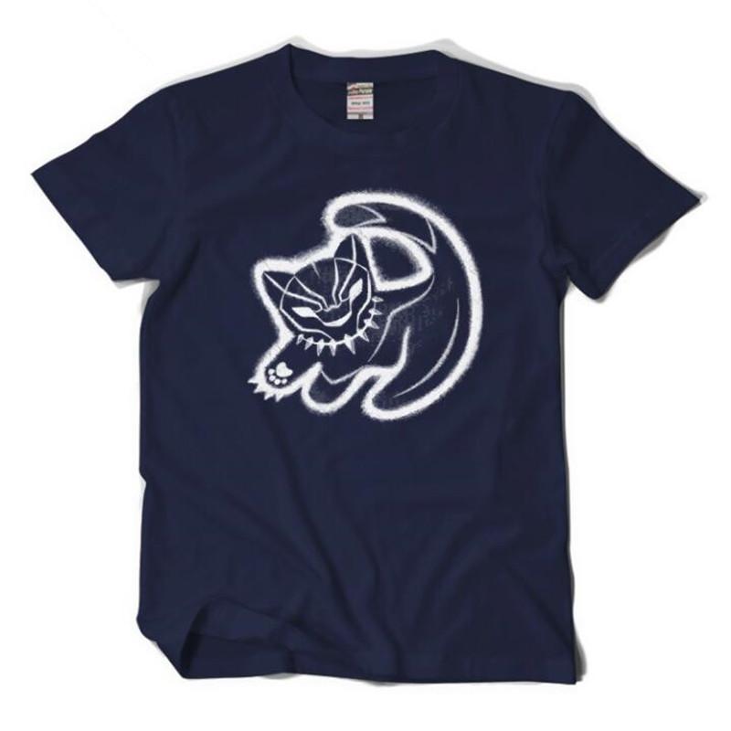Футболка с логотипом фильма Черная пантера Марвел