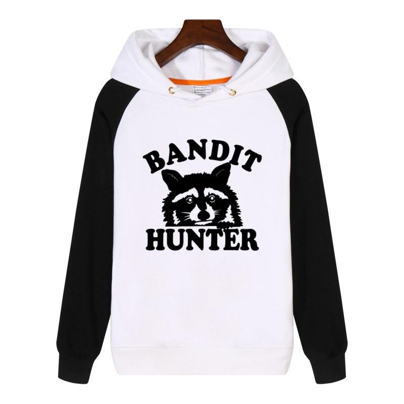 Raccoon Hunter Hoodies fashion men women Sweatshirt winter Streetwear Hoodie Clothing Tracksuit Sportswear GA326