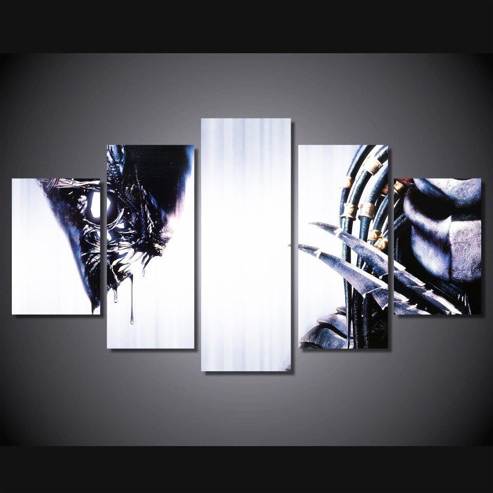 5 Teile/satz Gerahmte HD Gedruckt Alien Wars Alien Film Bild ...