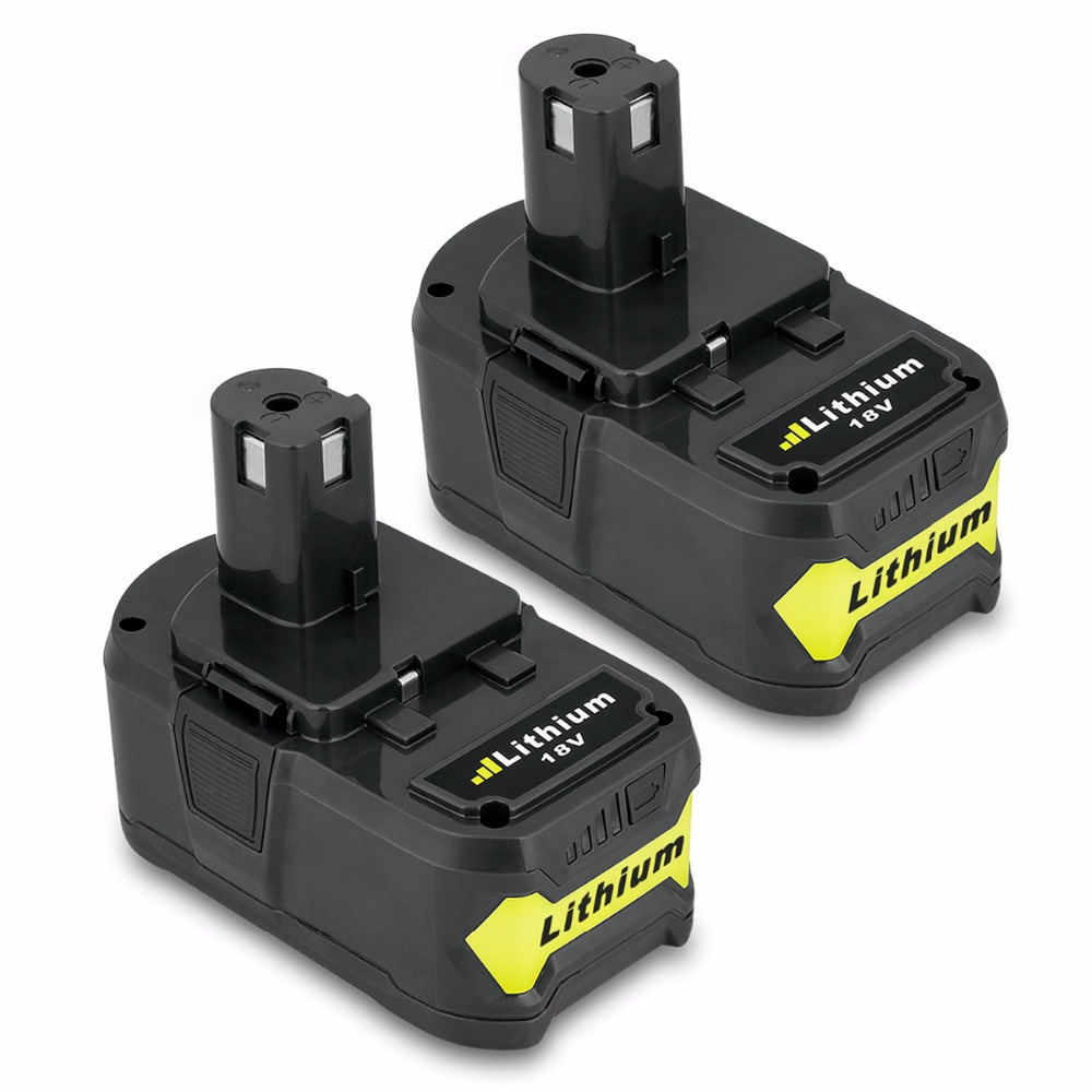 2 x 18V 4000mAh 4.0Ah RB18L40 Lithium ion battery For Ryobi RB18L50 P108 Rechargeable Power Tool Battery Pack p108 eleoption 2 pcs 18v 4000mah li ion rechargeable battery power tool battery for ryobi rb18l40 charger 12 18v