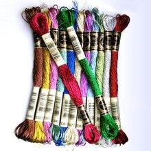 Многоцветная вышивка крестиком золотые и серебряные Нитки/вышивка крестиком Нитки/пользовательские вышивки крестиком цвета