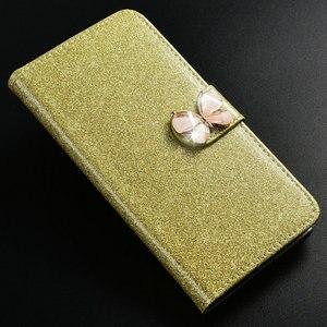 Image 4 - 1 кожаный чехол книжка с блестками для телефона Huawei Honor 8X, роскошный высококачественный чехол бумажник с подставкой, чехол со вспышкой на солнце