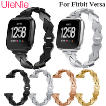 Stainless steeel Watchband for Fitbit Versa Smart watch Link Strap Bracelet Links Watchband for Fitbit Versa band accessories недорого
