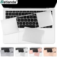 Batianda для нового MacBook Pro retina 13 15 Touch Bar Air 13,3 дюймов защита ладоней чехол с трекпадом Защитная Наклейка Серебро