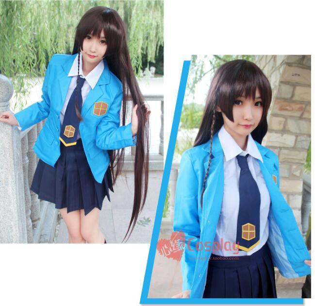 Anime Card Captor Sakura cosplay RUBY MOON/AKIZUKI NAKURU cos Japonais Collège filles JK uniformes cosplay costume
