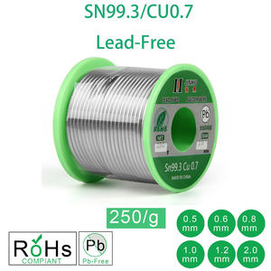 250g Lead-Free Solder Wire 0.5-2.0mm Unleaded Lead Free Rosin Core for Electrical Solder RoHs