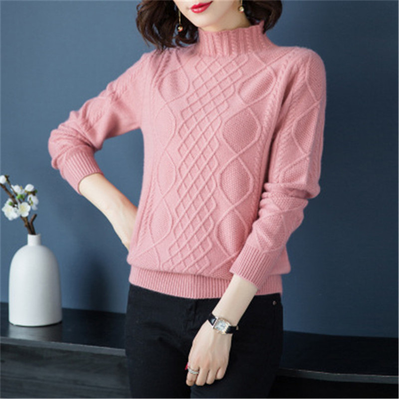 Col light Solide 5 xl camel Croix Mince Cachemire 100 Chèvre Noir Camel light Mode Beige Couleur Pull Grain Femmes Tricot Chandail De M Red black Roulé Pink v1v8WZUq