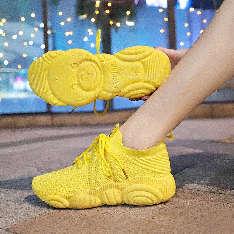 Zapatos nuevos para Mujer 2019 zapatillas De plataforma Zapatos para correr Zapatos De Mujer Zapatos De lujo diseñadores De Mujer Zapatos De calcetín Zapatos De varios colores
