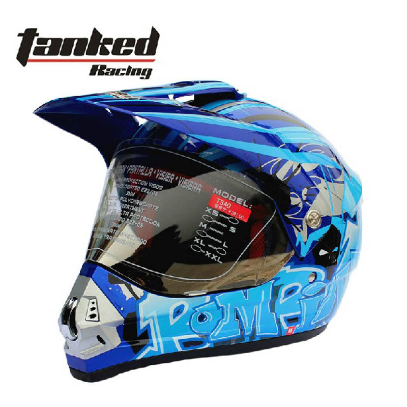 2017 Autumn winter New Tanked Racing OFF Road Motorcycle helmet T340 motorcross motorbike helmets made of ABS with PC lens visor ls2 professional off road racing motorcycle helmet mx433 cross country motorbike ran helmets made of abs with lens 18 colors