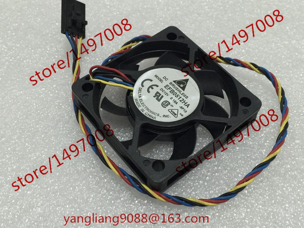 Free Shipping For DELTA EFB0512HA DC 12V 0.15A 4-wire 4-pin connector 90mm 50X50X10mm Server Square Cooling fan precision dc motor 12mm micro all metal gear motor diy