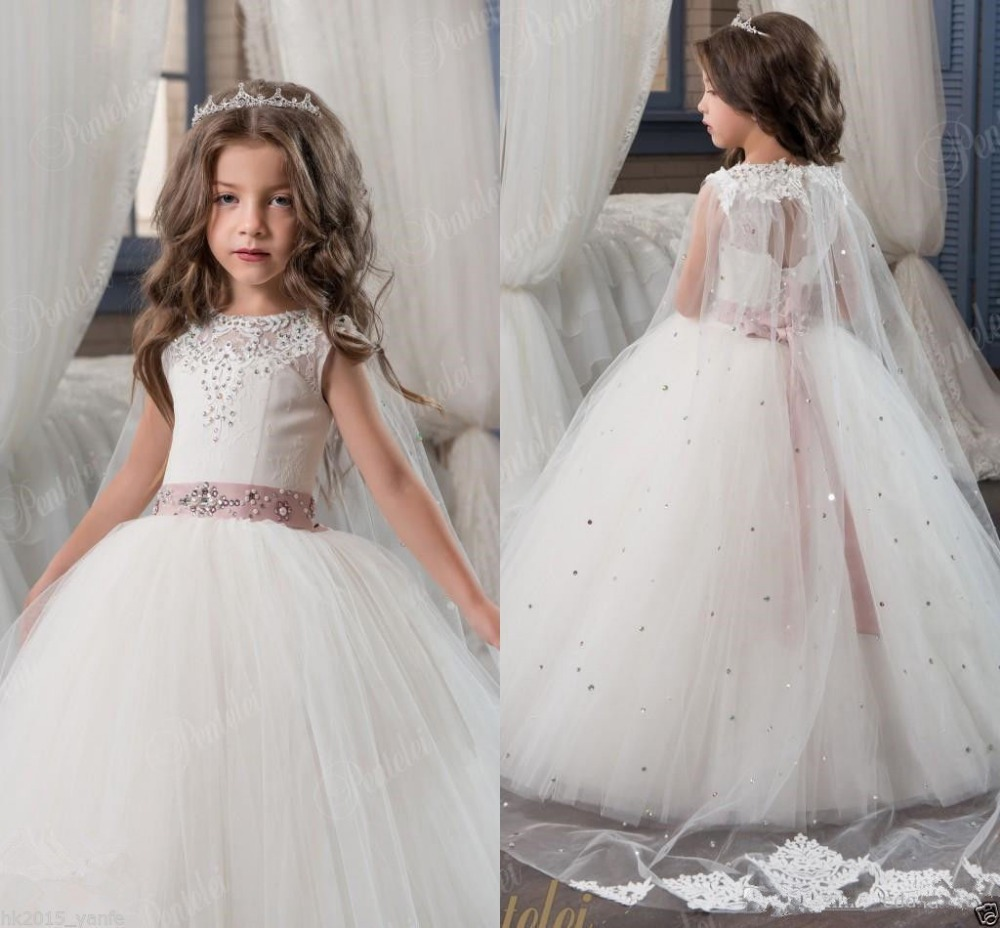 new Communion Party Prom Princess Pageant Flower Girl Dress Bridesmaid Wedding new flower girl dress party prom princess pageant communion bridesmaid wedding girl party dress