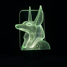 Special 3D Pharaoh Guard Model LED Night Desk Table Lamp as Home Decoration