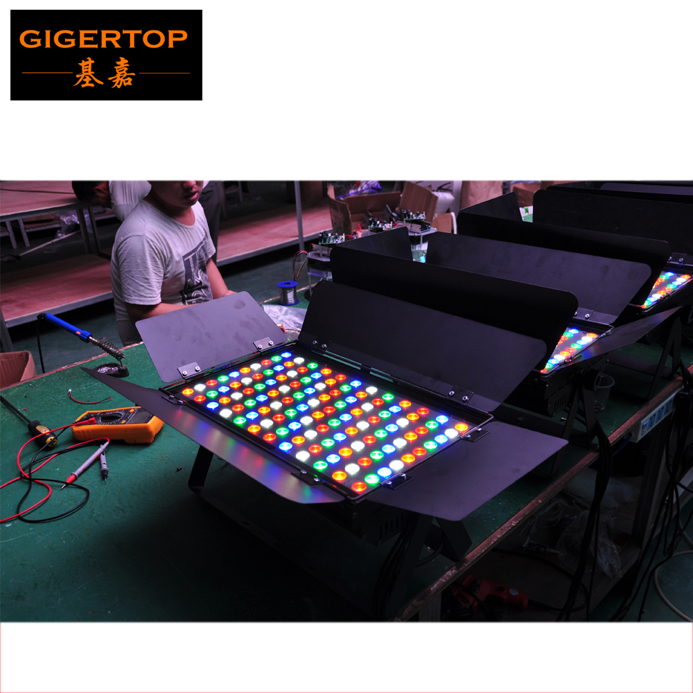 Freeshipping 10 Unit 120x3W RGBAW 5 Color Waterproof Led Wall Washer Light Outdoor Power/DMX Cable Glass Plate