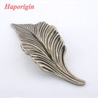2pcs Leaf Pattern Palace Kitchen Cabinet Hanles Euro Style Furniture Knobs Creative Cupboard Closet Drawer Handle
