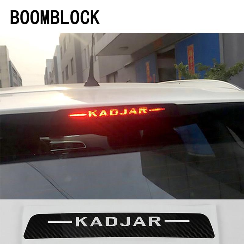 Auto 3D Black Carbon Fiber Decals High Brake Light Decoration Stickers Car Styling For Renault Kadjar Accessories