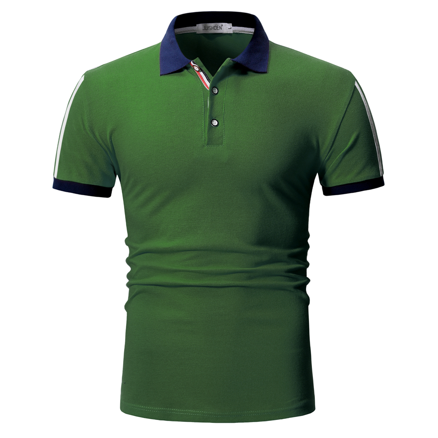 Dropshipping Summer Casual Fashion Mens Polo Slim Fit Solid Short Sleeve Polo Shirt Men