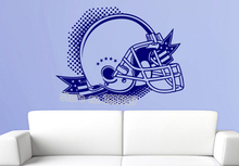 American Football Helmet Decal Removable Sticky Vinyl Wall Stickers For Boy Rooms Poster Wall Home Decor New Design Decals LA335