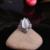 Banhado A prata Jóias Antigas Do Vintage de Strass Preto E Forma de Gota de Água de Pedra Natural Conjuntos de Jóias de Opala Branco Para As Mulheres
