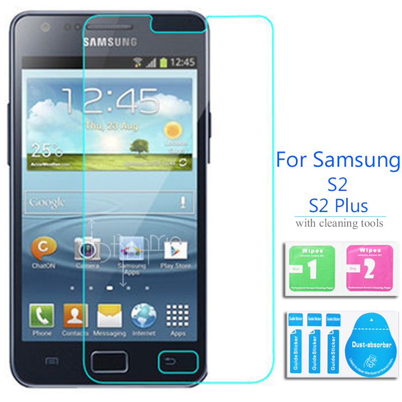 For Samsung Galaxy S2 Tempered glass Screen Protector 2.5 9h Safety Protection Film on S 2 II Plus SII I9100 I9105 E120 SC-03D