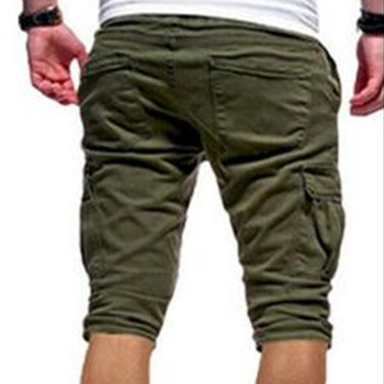 2019 Mens Military Cargo Shorts Summer army green Cotton Shorts men Loose Multi-Pocket Shorts Homme Casual Trousers Plus Size W3 1
