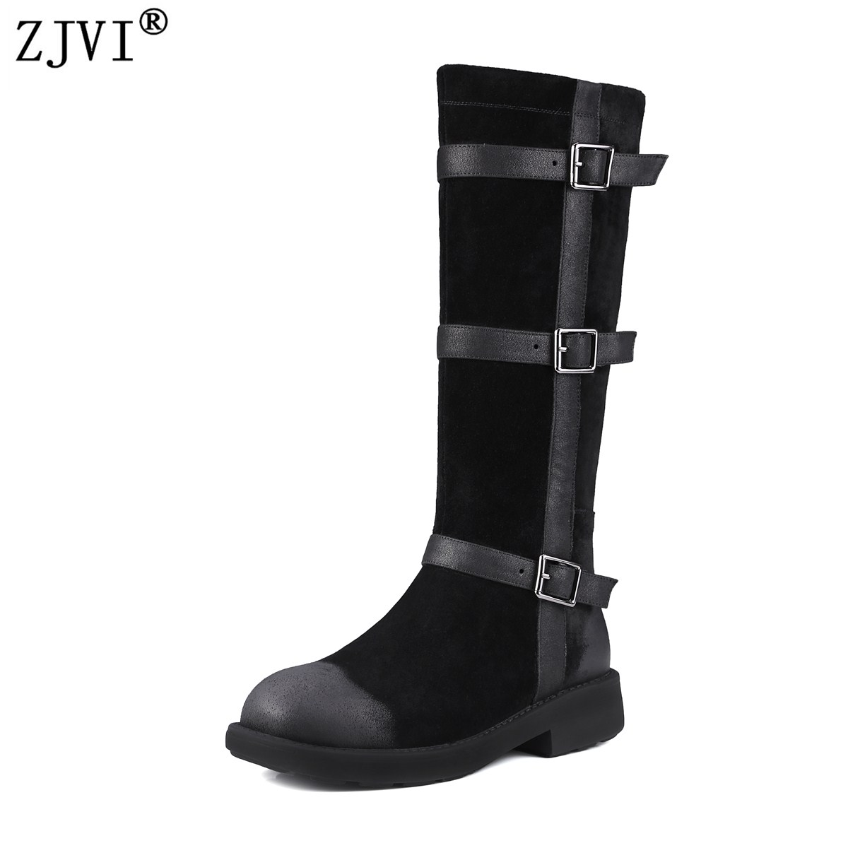 YOUGOLUN Ladies fashion thigh high boots buckle winter knee high boots woman
