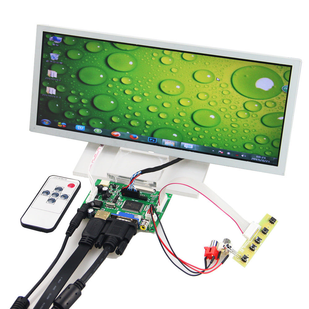 12.3 인치 LCD 용 LQ123K1LG03 1280 * 480 + HDMI VGA AV 컨트롤러 드라이브 보드 모니터 키트