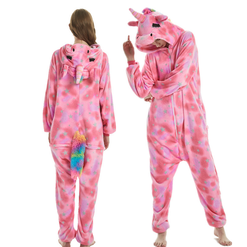 Unisex Adulto Unicornio Tigre le/ón Zorro Mono Animal Pijamas Cosplay Pijamas Disfraz de Carnaval de Halloween