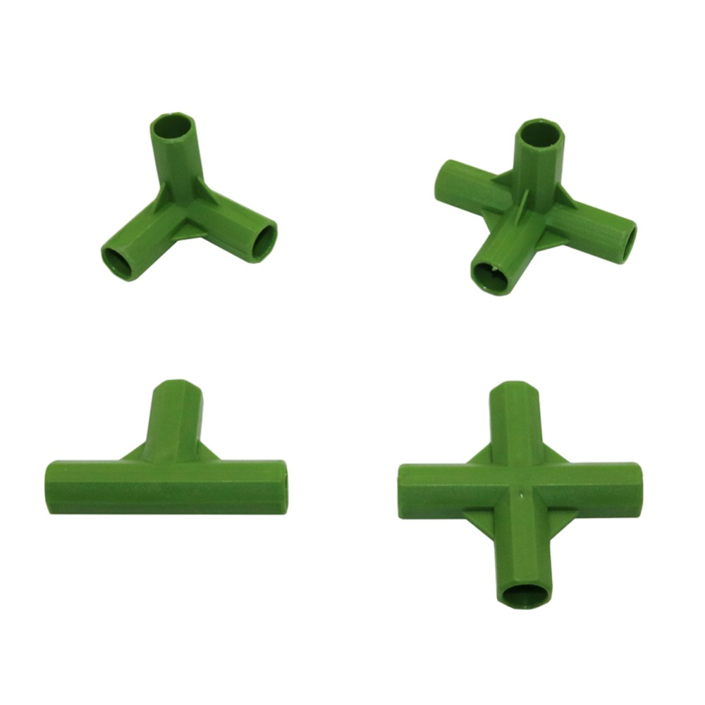 11mm Plastic Gardening Pillar Connectors Vegetable Garden Climbing Plants Bracket Awning Pipe Pole Connecting Joints 1 Pcs