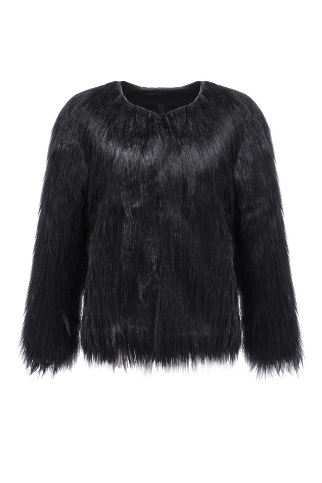 Online Shop 2017 Women Winter Black Fur Coat Outerwear Seyx Ladies ...