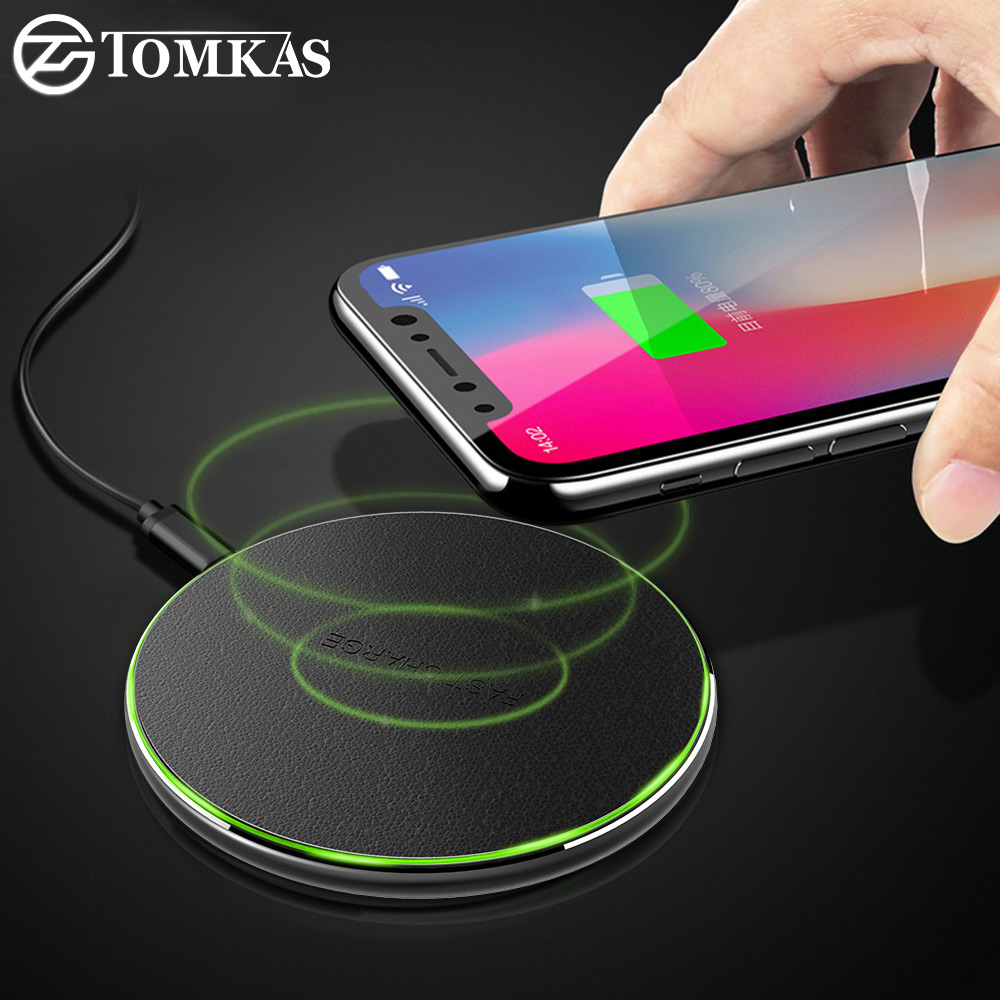 buy tomkas 10w qi wireless charger for iphone x 8 plus fast wireless charging. Black Bedroom Furniture Sets. Home Design Ideas