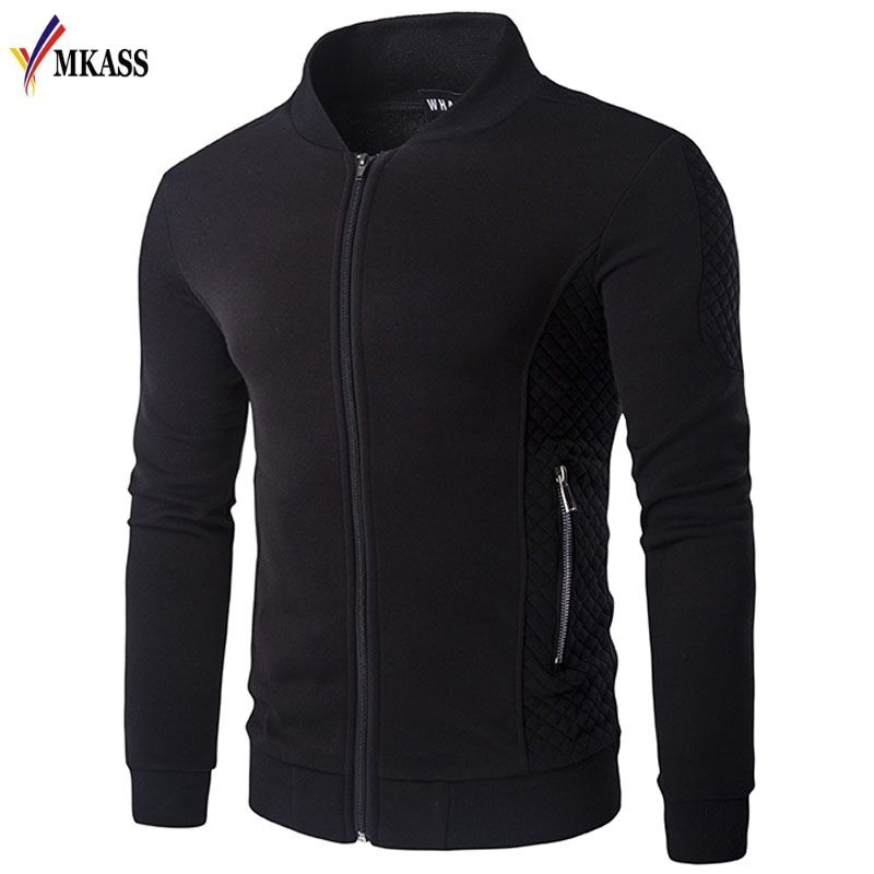 MKASS Fashion Male Jacket Coat Men 2018 Spring Business Casual Clothes Mens 3 Colors Baseball Jackets